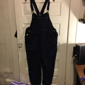 BDG XL Dark Blue Cords Lightly Distressed  Overall